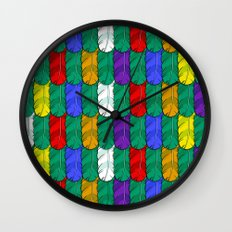 Feathers Pattern Wall Clock