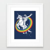 kitty Framed Art Prints featuring Epic Combo #23 by Jonah Makes Artstuff