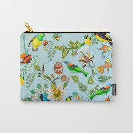 Colourful Birds Chintz Multicolour Carry-All Pouch