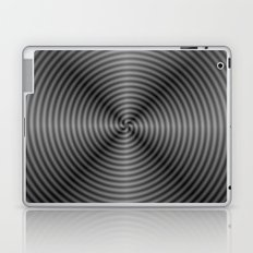Spiral Quartered in Monochrome Laptop & iPad Skin