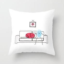 Couch Potatoes Throw Pillow