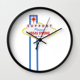 Support Forever Vegas Strong Wall Clock