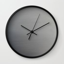 Brushed Metal Wall Clock