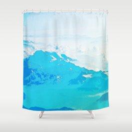 Fantasy Blue Mountaintop Shower Curtain