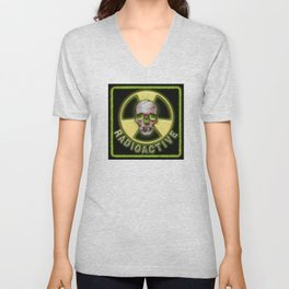 Radioactive Skull Unisex V-Neck