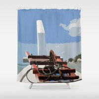 bow Shower Curtains featuring Bow by Sony Purba