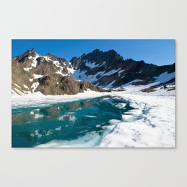 Moraine Lake, Anderson Glacier, Olympic National Park Canvas Print