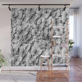 White Butterflies Wall Mural