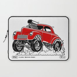 1941 WILLYS Classic Rodder - RED Laptop Sleeve