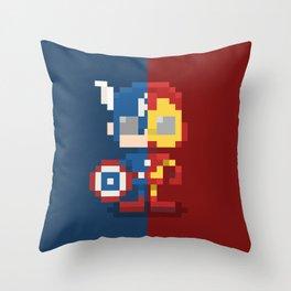 Civil Pixel War Throw Pillow
