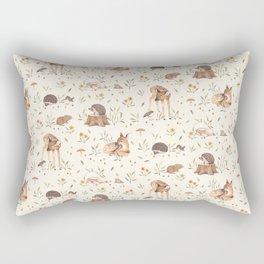 Meadow and Fawn Rectangular Pillow