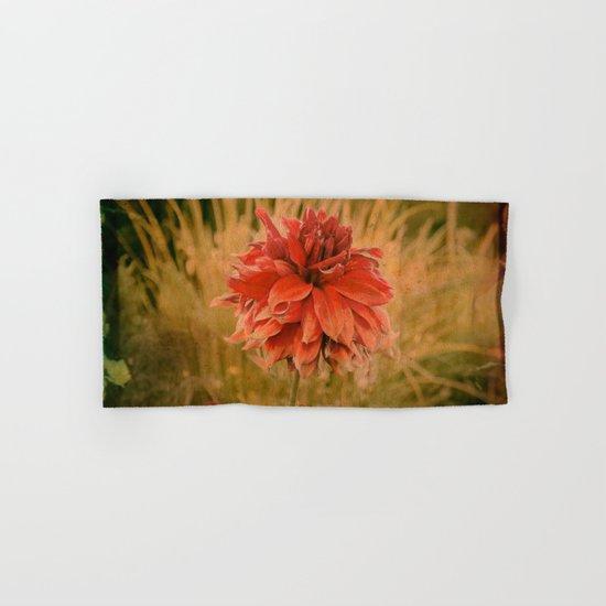 Hand painted vintage flower Hand & Bath Towel