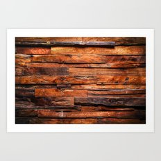 Beautifully Aged Wood Texture Art Print