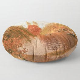Central Park New York City Autumn Floor Pillow