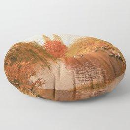 Central Park New York City Autumn Floor Pillow