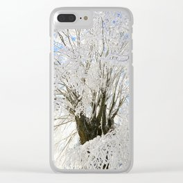 Icy Branches Clear iPhone Case