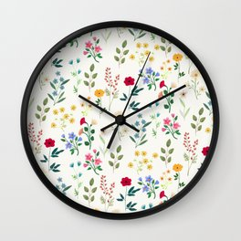 Spring Botanicals Wall Clock