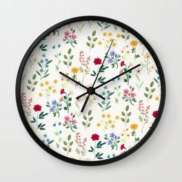 Spring Botanicals Wall Clock