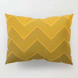 Gradient Golden Yellow Zig-Zags Pillow Sham