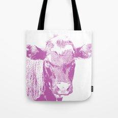 Pink Cow Tote Bag