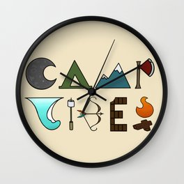 Camp Vibes2.0 Wall Clock