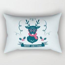 Deer Christmas Rectangular Pillow
