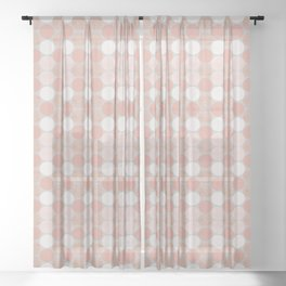 Rose Gold Dots Sheer Curtain