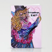 broadway Stationery Cards featuring Broadway Baby by EloiseArt