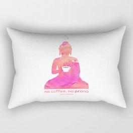 no coffee no prana Rectangular Pillow