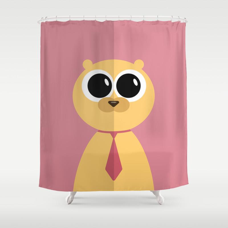 Fancy Otter Shower Curtain