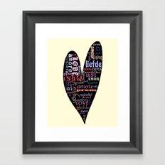 Multilingual Love Framed Art Print