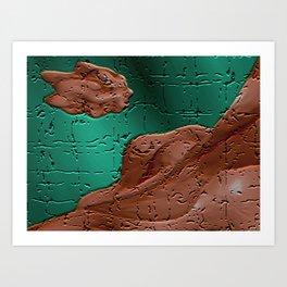 Fractal in Craquelure  Art Print