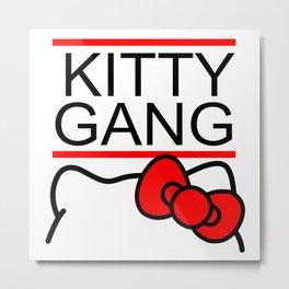 Kitty Gang Metal Print
