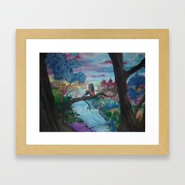 Lost In Thoughts Framed Art Print