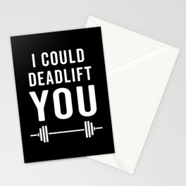 Deadlift You Gym Quote Stationery Cards