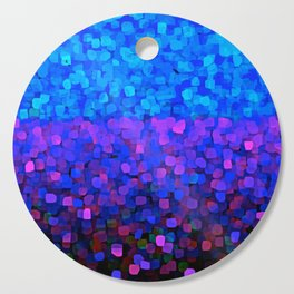 Sparkles Glitter Blue Cutting Board