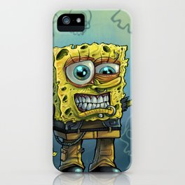 Grunge Bob iPhone Case