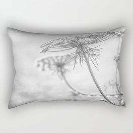 Queen Anne's Lace in Black and White Rectangular Pillow