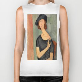"Amedeo Modigliani ""Jeanne Hébuterne (Au chapeau)"" Biker Tank"