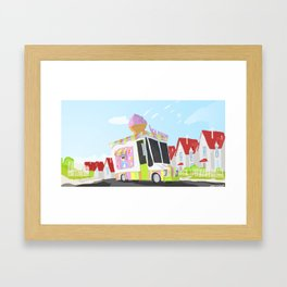 Despicable Me 2 - Ice cream Truck  Framed Art Print
