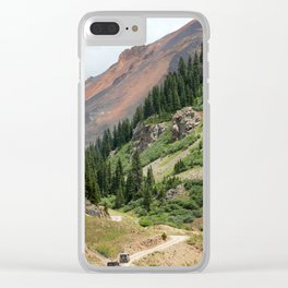 Road to the Longfellow Mine, elevation 11,080 feet Clear iPhone Case