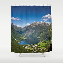 Geiranger Fjord Shower Curtain