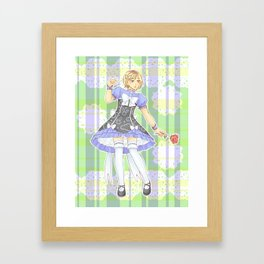Kenma Kozume Alice in wonderland version Framed Art Print