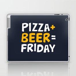 Pizza + beer = Friday Laptop & iPad Skin