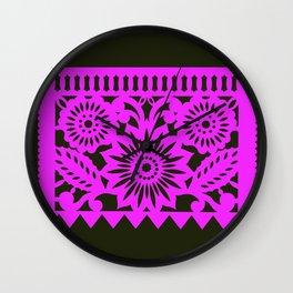 Papel Picdo - Pink + Black Wall Clock