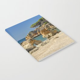 rock formation on Olhos d'Agua beach, Portugal Notebook