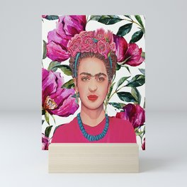 Frida with Crown of Flowers Mini Art Print