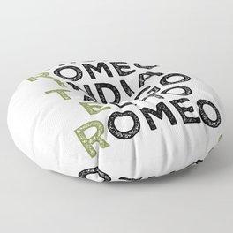 Writer in Phonetic Alphabet Floor Pillow