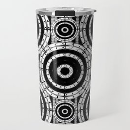 Geometric black and white Travel Mug