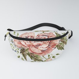 Pink Wild Rose Bouquet Fanny Pack